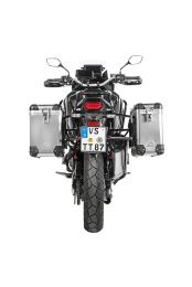 ZEGA Pro aluminium pannier system 31/38 litres with stainless steel rack black for Honda CRF1100L Africa Twin