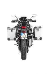 Touratech ZEGA Pro aluminium pannier system with stainless steel rack for Honda CRF1100L Africa Twin