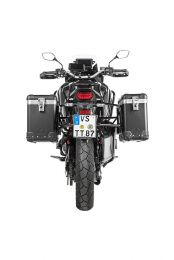 "ZEGA Pro aluminium pannier system ""And-Black"" 31/38 litres with stainless steel rack black for Honda CRF1100L Africa Twin"