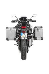 ZEGA Pro aluminium pannier system 38/45 litres with stainless steel rack black for Honda CRF1100L Africa Twin