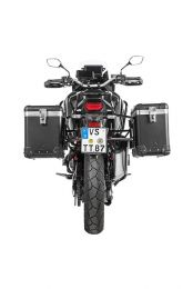 "ZEGA Pro aluminium pannier system ""And-Black"" 38/45 litres with stainless steel rack black for Honda CRF1100L Africa Twin"
