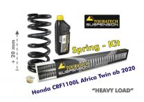 Progressive front and rear replacement springs for the Honda CRF1100L Africa Twin from 2020 / +20mm height / Heavy Load