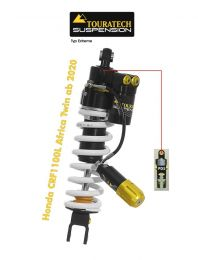 Touratech Suspension shock absorber for Honda CRF1100L Africa-Twin from 2020 type Extreme