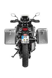 Touratech ZEGA Mundo aluminium pannier system with stainless steel rack for Honda CRF1100L Africa Twin