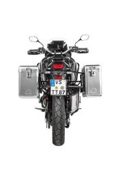 ZEGA Mundo aluminium pannier system 31/38 litres with stainless steel rack black for Honda CRF1100L Africa Twin