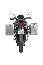 ZEGA Mundo aluminium pannier system 38/45 litres with stainless steel rack black for Honda CRF1100L Africa Twin