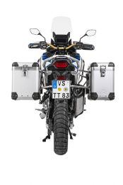 """Touratech ZEGA Pro aluminium pannier system """"And-S"""" 38/45 litres with stainless steel rack for Honda CRF1100L Adventure Sports"""