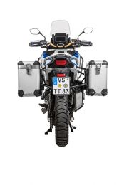 ZEGA Pro aluminium pannier system 31/38 litres with stainless steel rack black for Honda CRF1100L Adventure Sports