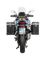 "ZEGA Pro aluminium pannier system ""And-Black"" 31/38 litres with stainless steel rack black for Honda CRF1100L Adventure Sports"