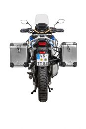 ZEGA Pro aluminium pannier system 38/45 litres with stainless steel rack black for Honda CRF1100L Adventure Sports