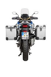 "ZEGA Pro aluminium pannier system ""And-S"" 38/45 litres with stainless steel rack black for Honda CRF1100L Adventure Sports"