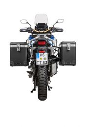 "ZEGA Pro aluminium pannier system ""And-Black"" 38/45 litres with stainless steel rack black for Honda CRF1100L Adventure Sports"