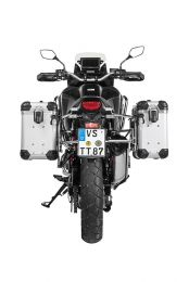 """ZEGA Evo aluminium pannier system """"And-S"""" 31/38 litres with stainless steel rack for Honda CRF1100L Africa Twin"""