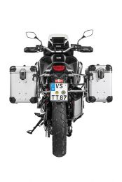 """ZEGA Evo aluminium pannier system """"And-S"""" 38/45 litres with stainless steel rack for Honda CRF1100L Africa Twin"""