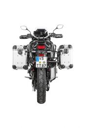"""ZEGA Evo aluminium pannier system """"And-S"""" 31/38 litres with stainless steel rack black for Honda CRF1100L Africa Twin"""