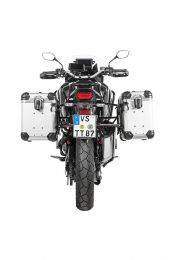 """ZEGA Evo aluminium pannier system """"And-S"""" 38/45 litres with stainless steel rack black for Honda CRF1100L Africa Twin"""