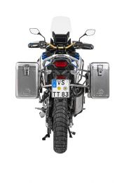 Touratech ZEGA Mundo aluminium pannier system 31/38 litres with stainless steel rack for Honda CRF1100L Adventure Sports