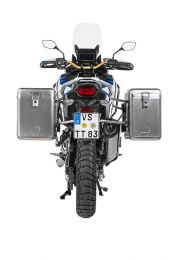 Touratech ZEGA Mundo aluminium pannier system 38/45 litres with stainless steel rack for Honda CRF1100L Adventure Sports