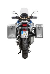 ZEGA Mundo aluminium pannier system 31/38 litres with stainless steel rack black for Honda CRF1100L Adventure Sports