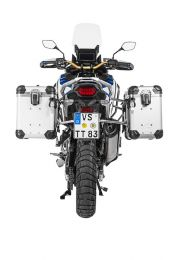 """Touratech ZEGA Evo aluminium pannier system """"And-S"""" 38/45 litres with stainless steel rack for Honda CRF1100L Adventure Sports"""