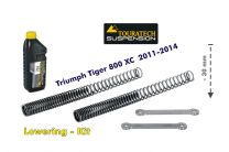 Touratech Height lowering kit. 30mm. for Triumph Tiger 800 2011-2014 *replacement springs and reversing lever*