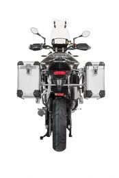 "ZEGA Pro aluminium pannier system ""And-S"" 31/38 litres with stainless steel rack for Triumph Tiger 900 Rally"