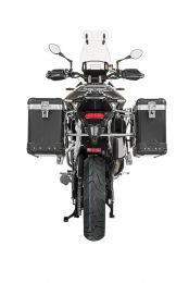 "ZEGA Pro aluminium pannier system ""And-Black"" 31/38 litres with stainless steel rack for Triumph Tiger 900 Rally"