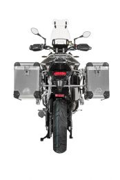 """ZEGA Pro aluminium pannier system """"And-S"""" 38/45 litres with stainless steel rack for Triumph Tiger 900 """