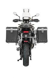 "ZEGA Pro aluminium pannier system ""And-Black"" 38/45 litres with stainless steel rack for Triumph Tiger 900 Rally"