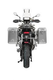 ZEGA Mundo aluminium pannier system 31/38 litres with stainless steel rack for Triumph Tiger 900 Rally
