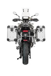 "ZEGA Evo aluminium pannier system ""And-S"" 31/38 litres with stainless steel rack for Triumph Tiger 900 Rally"