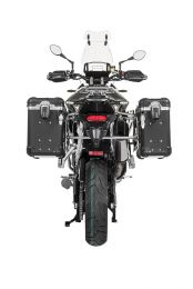 "ZEGA Evo aluminium pannier system ""And-Black"" 31/38 litres with stainless steel rack for Triumph Tiger 900 Rally"