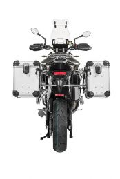 "ZEGA Evo aluminium pannier system ""And-S"" 38/45 litres with stainless steel rack for Triumph Tiger 900 Rally"