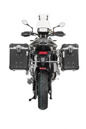 "ZEGA Evo aluminium pannier system ""And-Black"" 38/45 litres with stainless steel rack for Triumph Tiger 900 Rally"