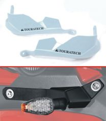 Hand protectors for Ducati Multistrada 1200 up to 2014 *white* for original handlebar - supplied with LED indicator set