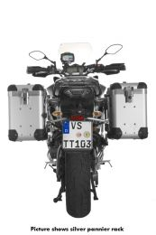 """ZEGA Pro2 aluminium pannier system """"And-S"""" 38/38 litres with stainless steel rack black for Yamaha MT-09 Tracer (2015-2017)"""
