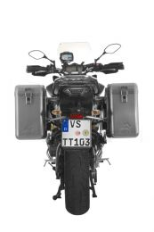 ZEGA Mundo aluminium pannier system 31/31 litres with stainless steel rack for Yamaha MT-09 Tracer (2015-2017)