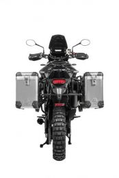 """ZEGA Pro aluminium pannier system """"And-Black"""" 38/45 litres with stainless steel rack black for Triumph Tiger 900 """