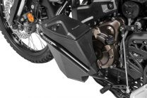Toolbox with engine crash bar - retrofit kit - left side, black for Yamaha Tenere 700