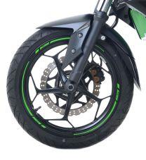 16-Piece Modular Motorcycle Rim Tape, Light Blue