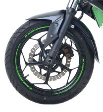 16-Piece Modular Motorcycle Rim Tape, Green