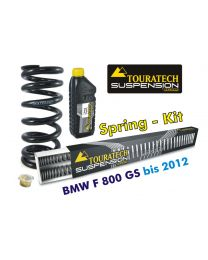 Touratech Progressive replacement springs for fork and shock absorber. BMW F800GS up to 2012