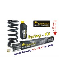 Touratech Hyperpro height lowering kit 30mm Honda Transalp XL700V from 2008 replacement springs