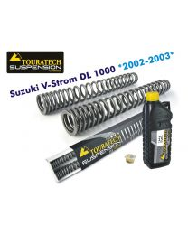 Touratech Progressive fork springs for Suzuki V-Strom DL1000 from 2002 to 2003