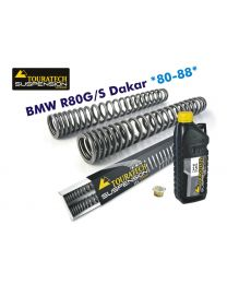 Touratech Progressive fork springs for BMW R80G/S Dakar 1980-1988
