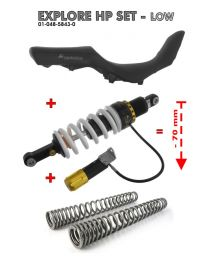 Touratech Lowering Level 2 KIT -7 cm Shock absorber. fork springs and seat for BMW F800GS Adventure