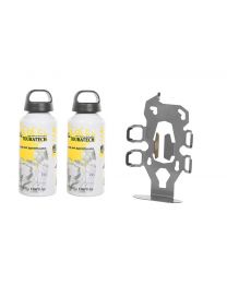 "ZEGA Pro2 accessory holder ""bottle holder"" double with 2x Touratech aluminum bottle 0.6 litres"