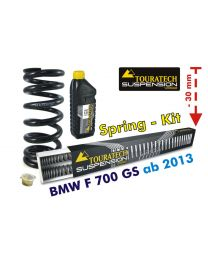 Touratech Height lowering kit -30mm for BMW F700GS from 2013 *replacement springs*