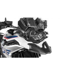 Stainless steel black headlight protector with quick release fastener for BMW F850GS / F750GS
