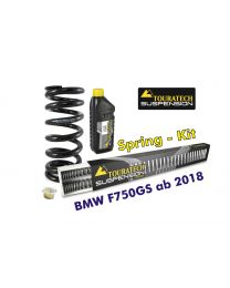 Touratech Progressive replacement springs for fork and shock absorber. für BMW F750GS from 2018